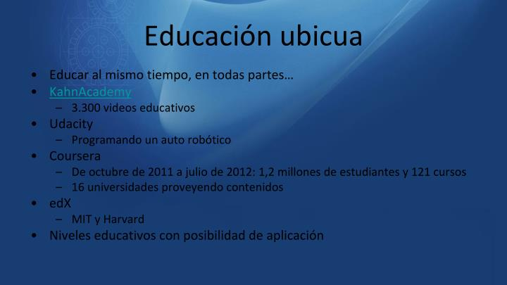Educación ubicua