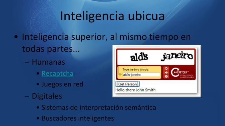 Inteligencia ubicua