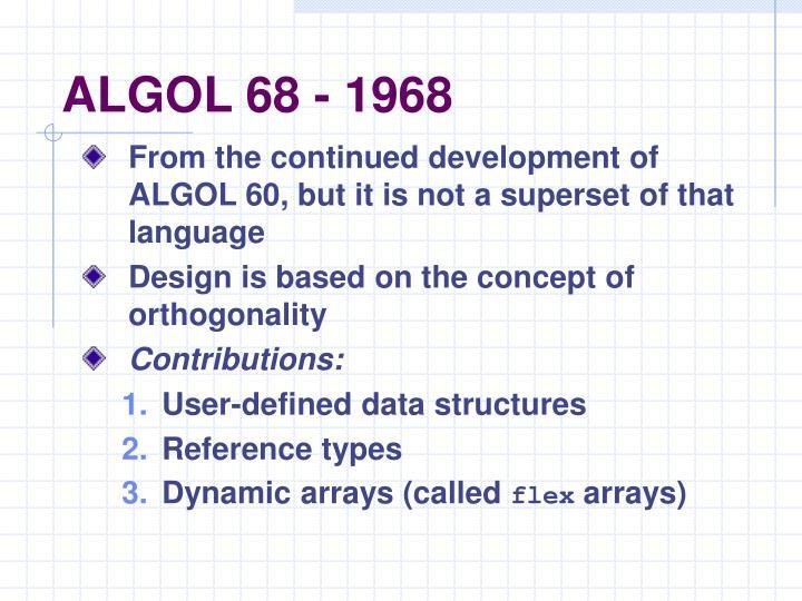 ALGOL 68 - 1968