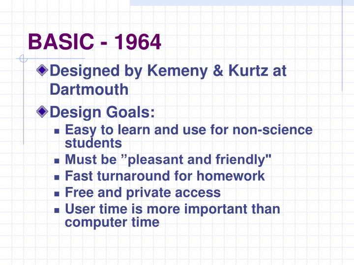 BASIC - 1964