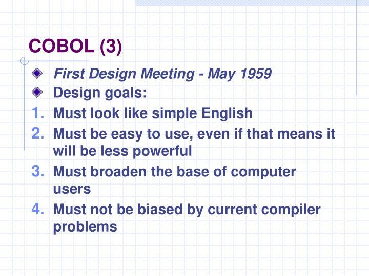 COBOL (3)