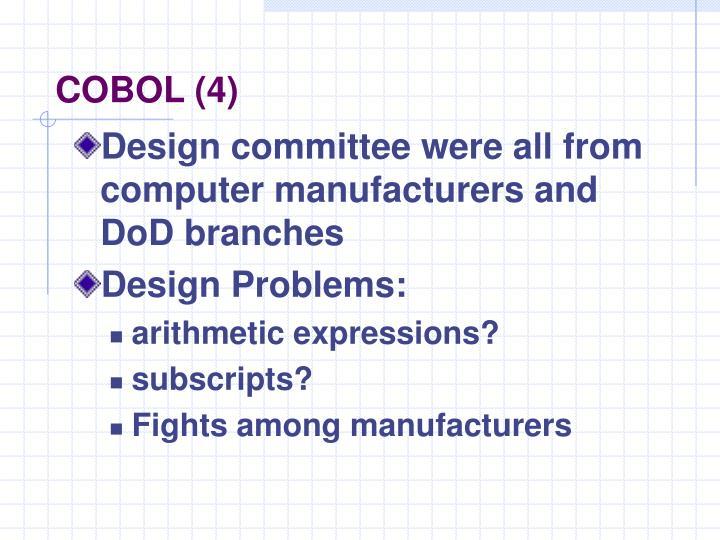 COBOL (4)
