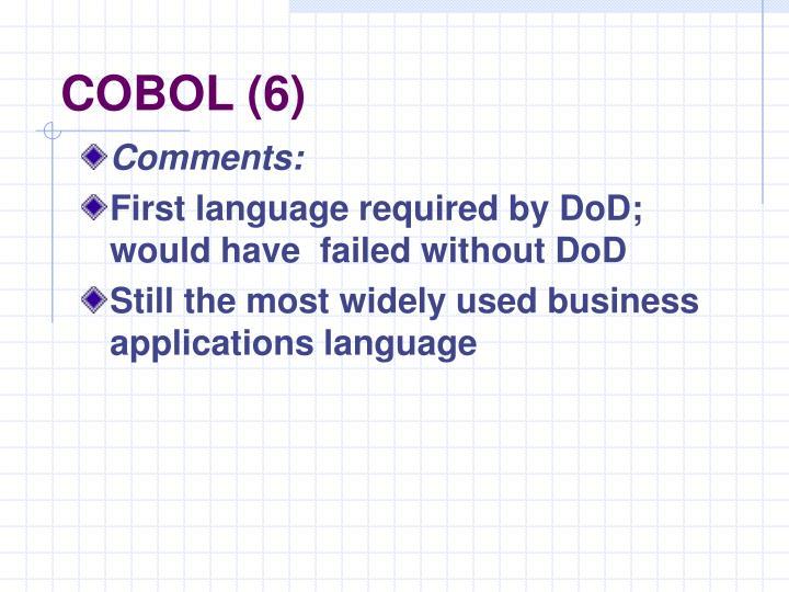 COBOL (6)