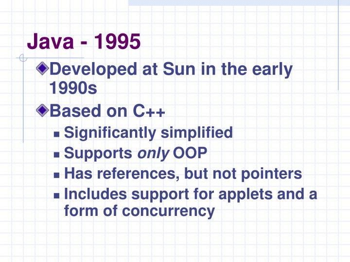 Java - 1995