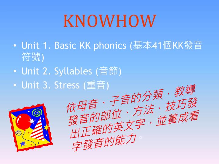 KNOWHOW