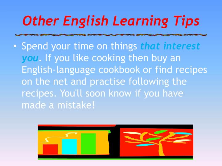 Other English Learning Tips