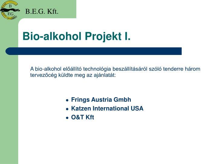 Bio-alkohol Projekt I.