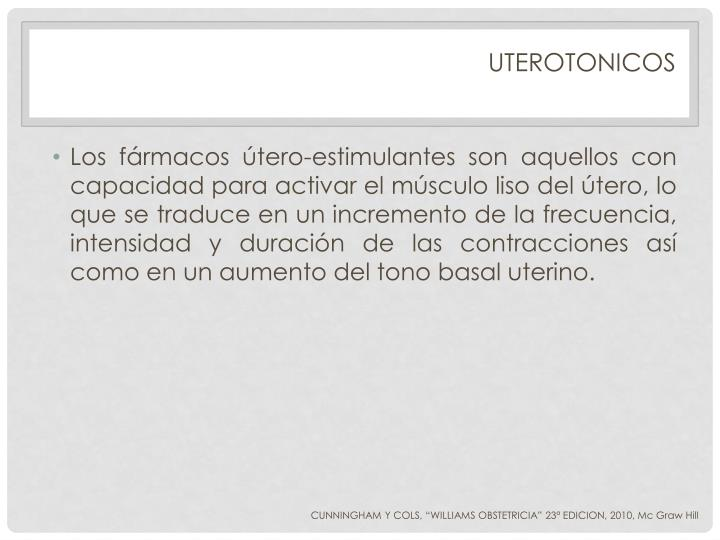 UTEROTONICOS