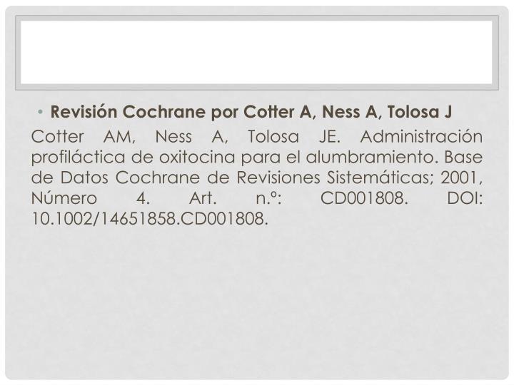 Revisión Cochrane por