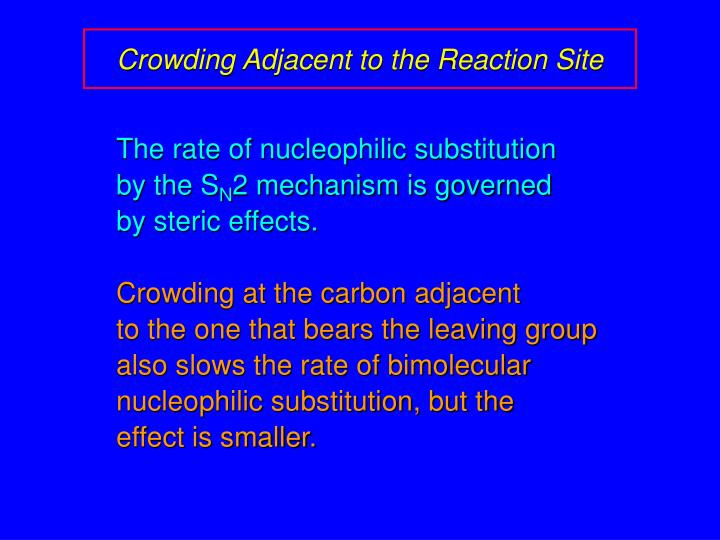 Crowding Adjacent to the Reaction Site