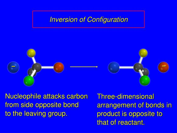 Nucleophile attacks carbon