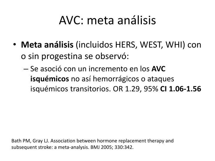 AVC: meta análisis