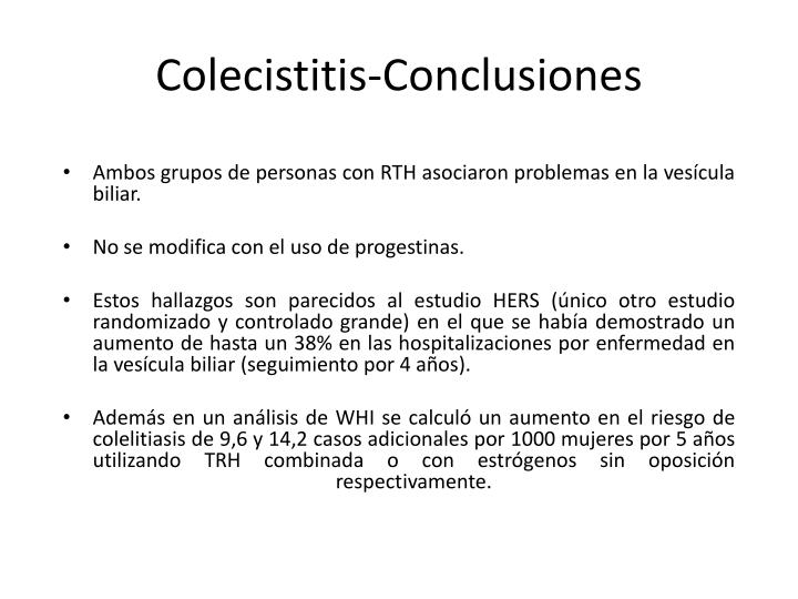 Colecistitis-Conclusiones