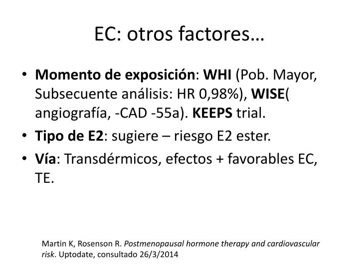 EC: otros factores…