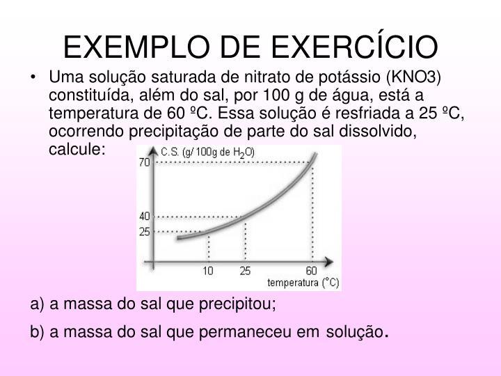 EXEMPLO DE EXERCÍCIO