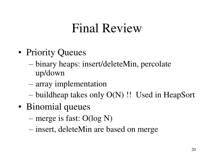 Final Review