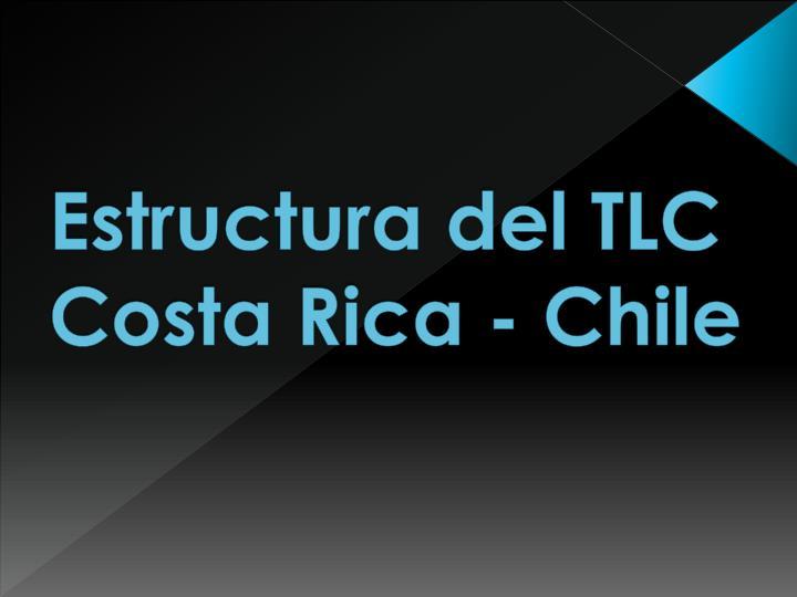 Estructura del TLC Costa Rica - Chile