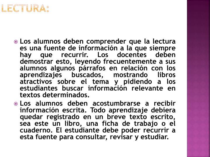 Lectura: