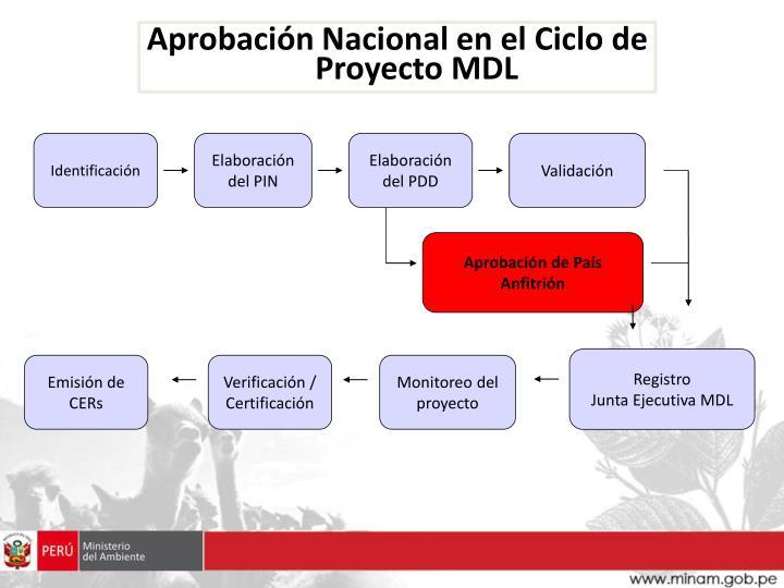 Aprobación Nacional en el Ciclo de Proyecto MDL