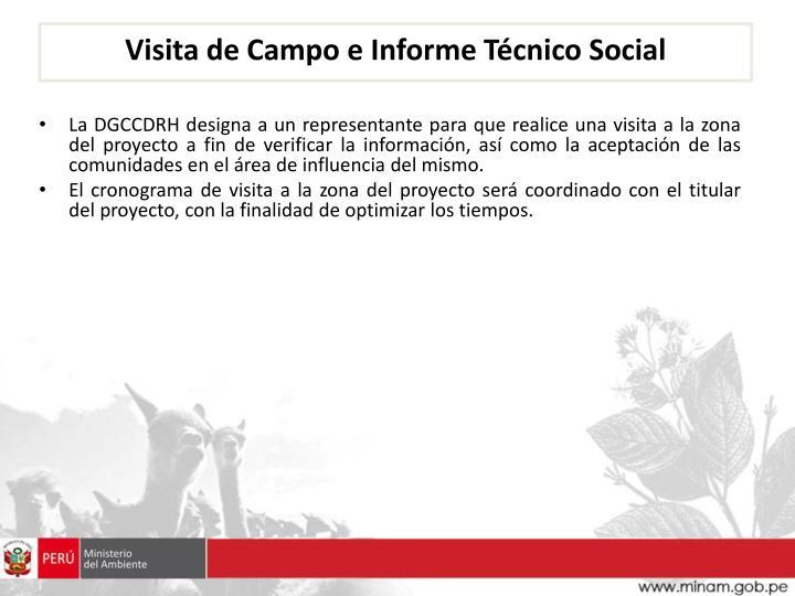 Visita de Campo e Informe Técnico Social