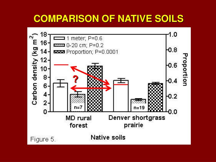 COMPARISON OF NATIVE SOILS