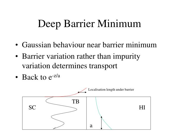 Deep Barrier Minimum