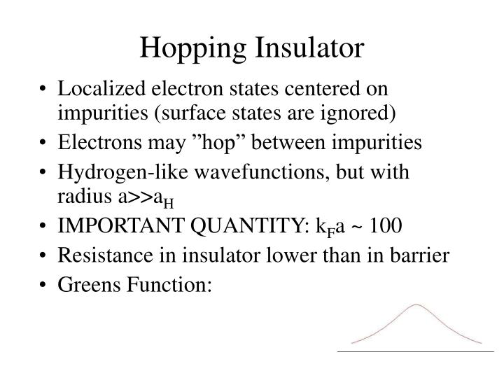 Hopping Insulator