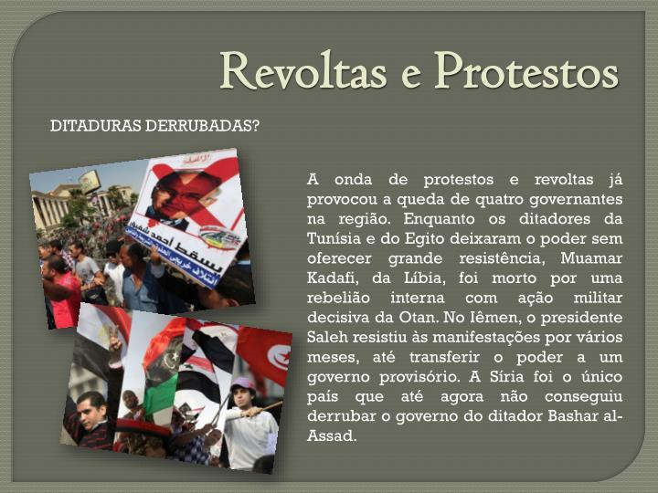Revoltas e Protestos