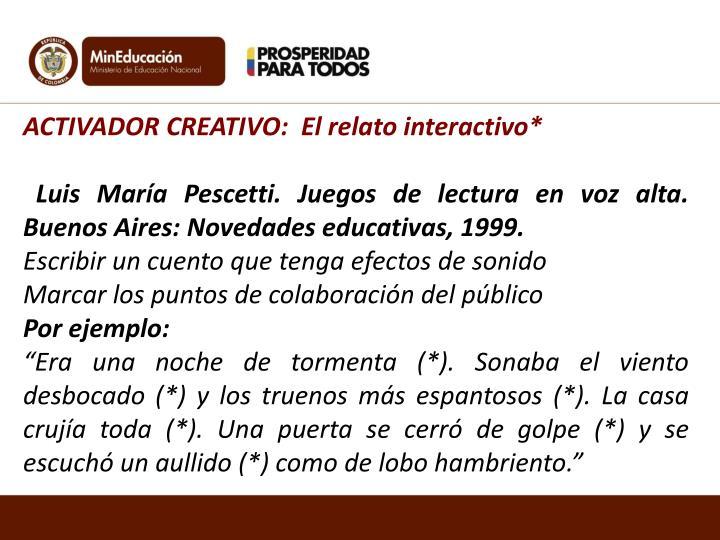 ACTIVADOR CREATIVO: