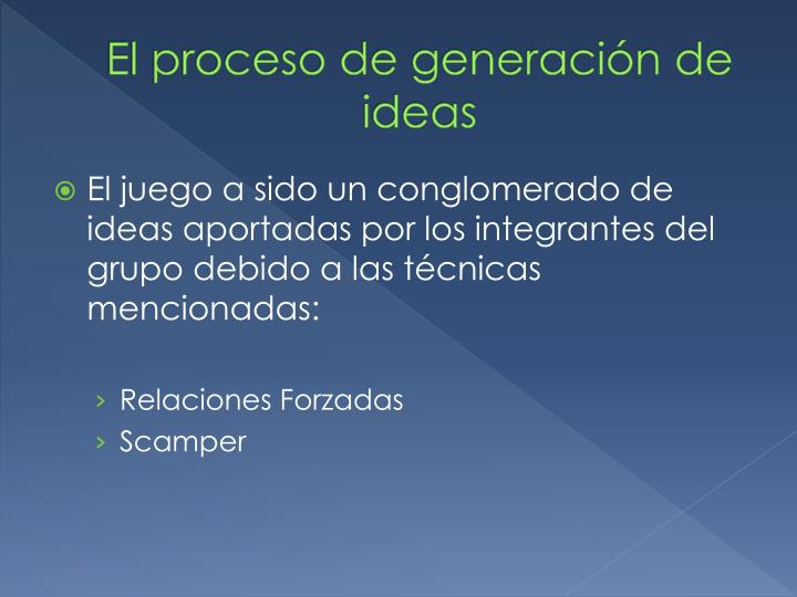 El proceso de generación de ideas