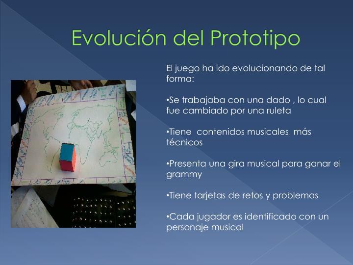 Evolución del Prototipo