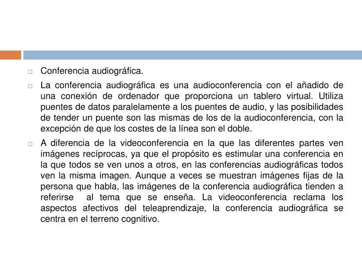 Conferencia audiográfica.