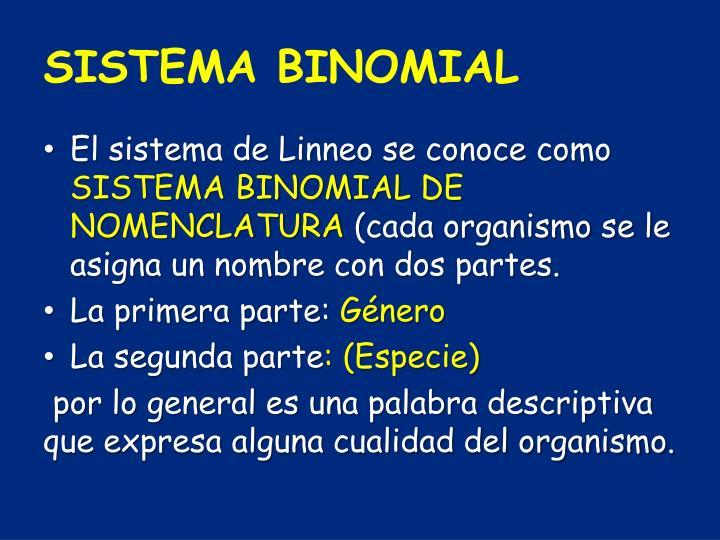 SISTEMA BINOMIAL