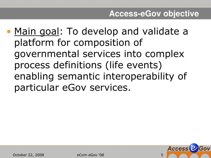 Access-eGov objective
