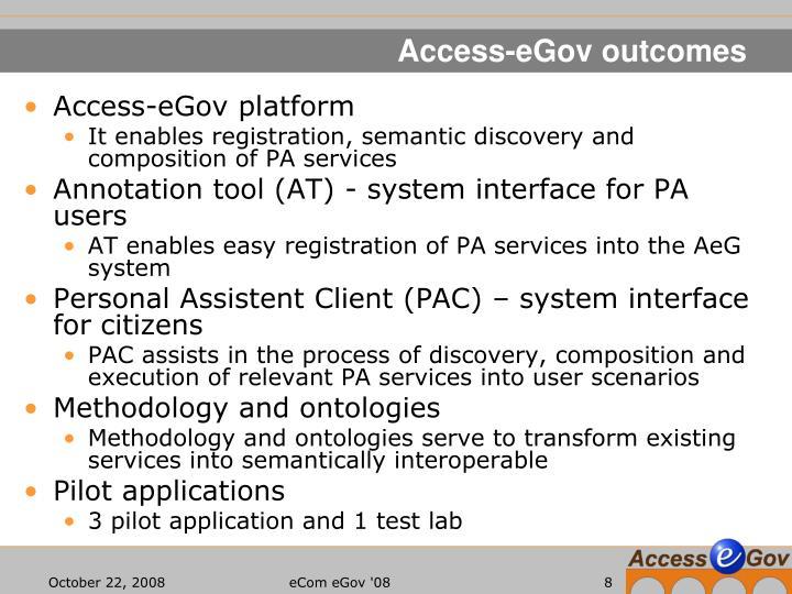 Access-eGov outcomes