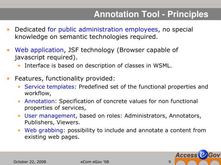 Annotation Tool - Principles