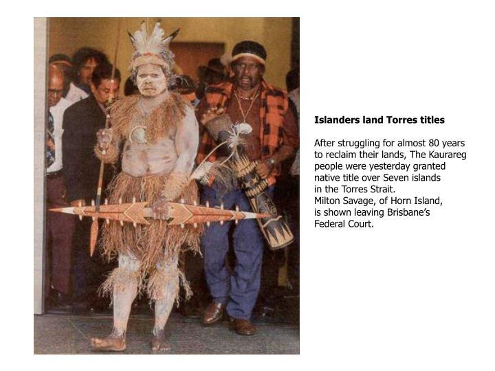 Islanders land Torres titles