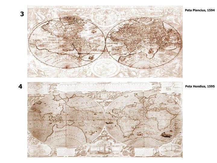 Peta Plancius, 1594
