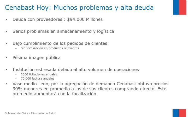 Cenabast Hoy: Muchos problemas y alta deuda