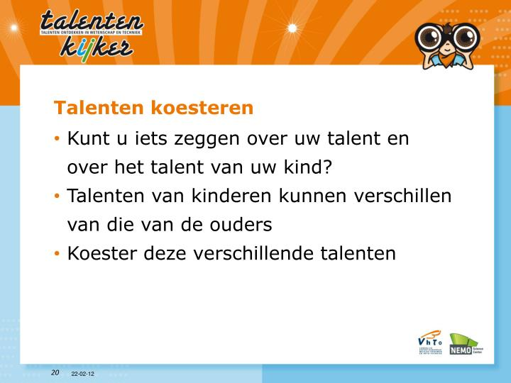 Talenten koesteren