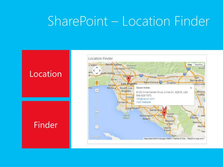SharePoint – Location Finder