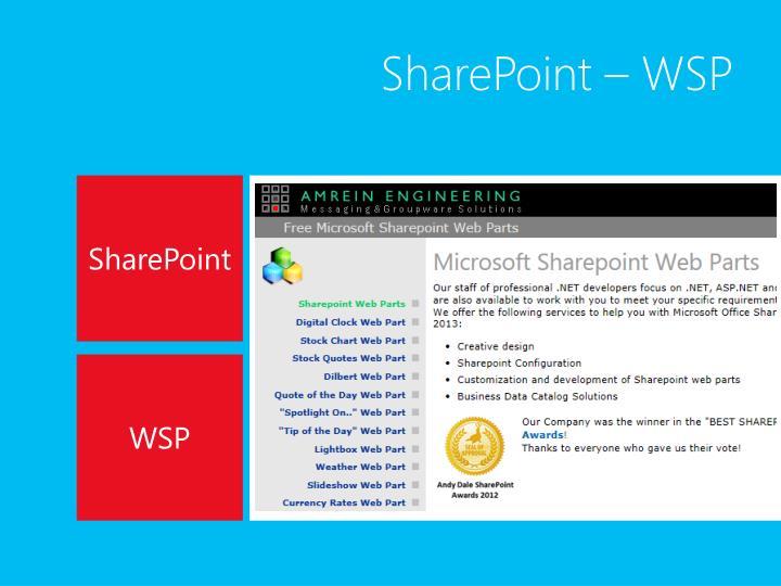 SharePoint – WSP
