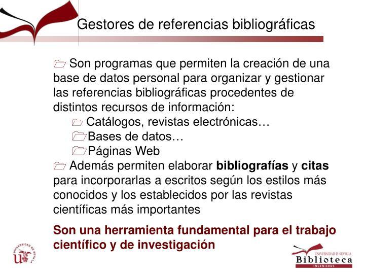 Gestores de referencias bibliográficas
