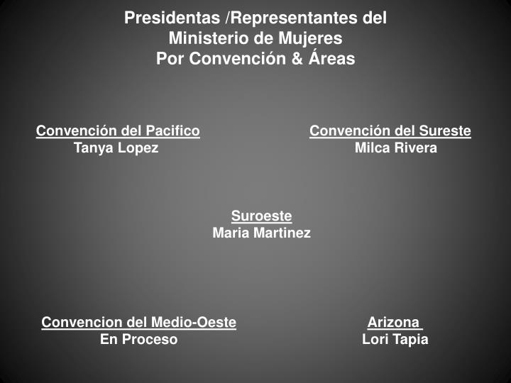 Presidentas /Representantes del