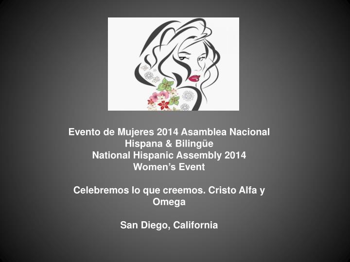 Evento de Mujeres 2014 Asamblea Nacional
