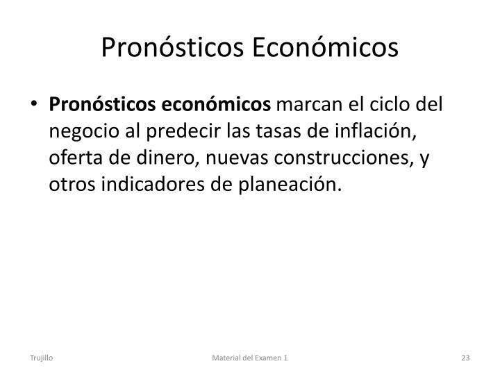 Pronósticos Económicos