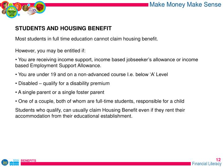 STUDENTS AND HOUSING BENEFIT