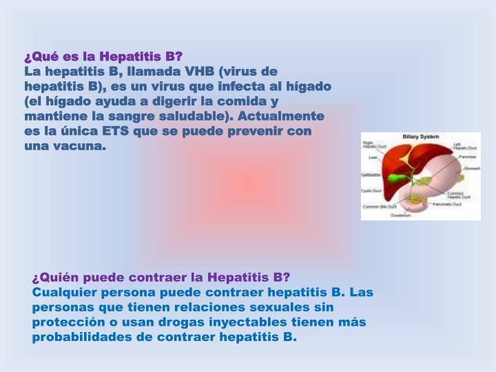 ¿Qué es la Hepatitis B?