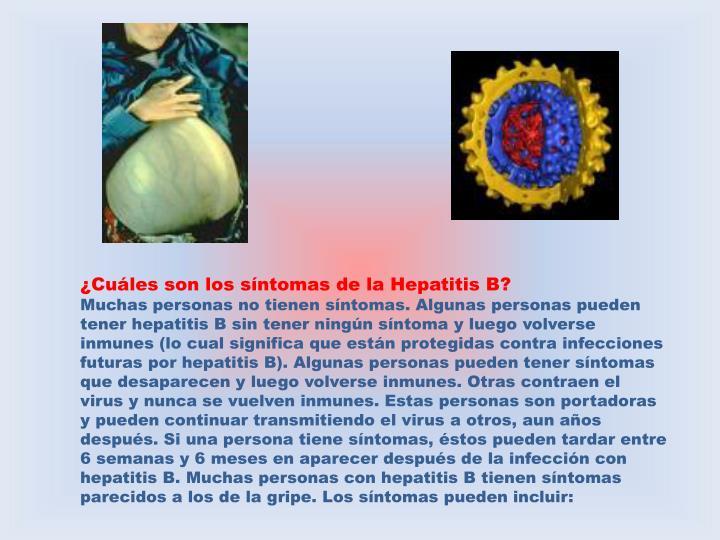¿Cuáles son los síntomas de la Hepatitis B?