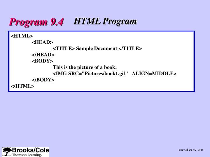 Program 9.4